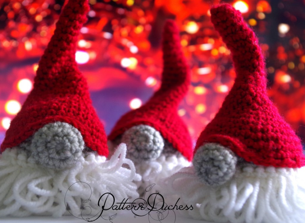 crochet elf, crochet gnome, crochet tomte, elf gnome crochet tutorial