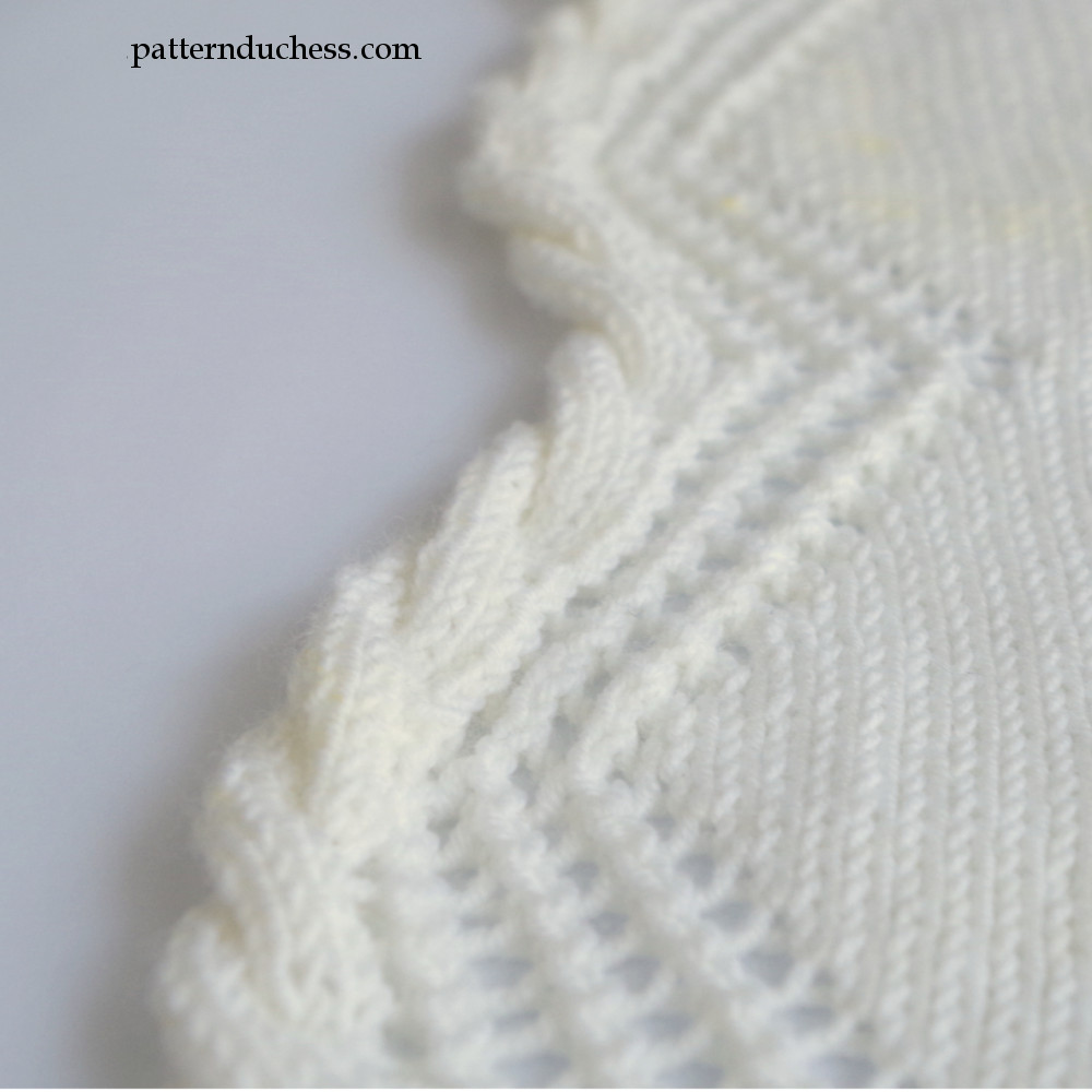 Knitting Lace Border : Knit cable edging with twisted trim and lace pattern duchess