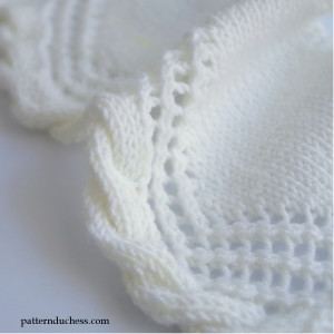 knit cable and lace edging
