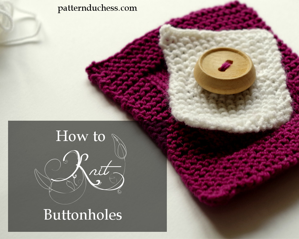 how to knit a hole for a button