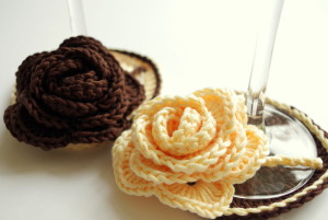 how to crochet wine glass coasters