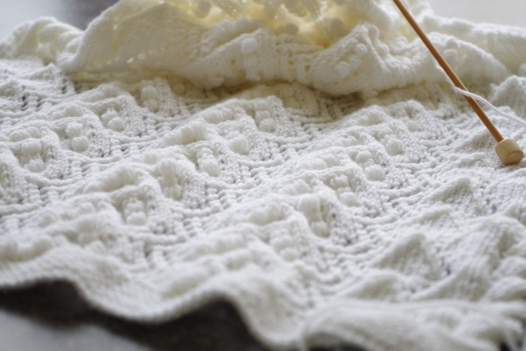 knitted lace shawl with estonian lace pattern