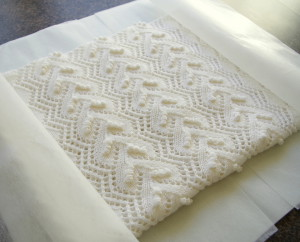 how to knit lace scarf