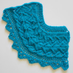 How to knit Diamond of the Island lace edging corner
