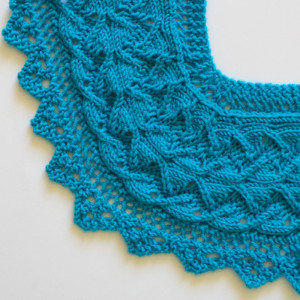 How to knit corner of Diamond of the Island lace edging
