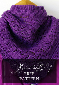 Melancholy scarf - cable knit lace scarf free pattern