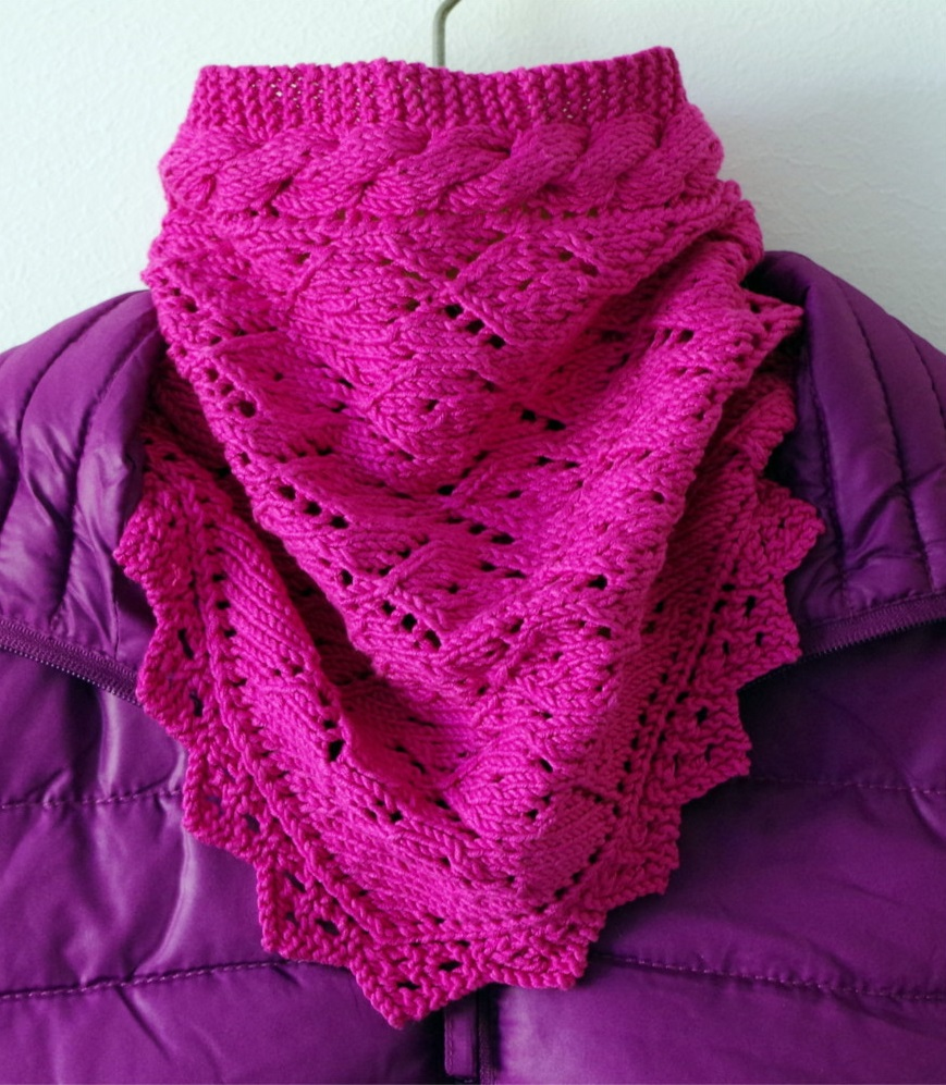 "Knitting pattern for ""Melancholy"" scarf 