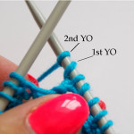 Tutorial for knitting yarn over twice