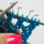 how to knit yarn over twice