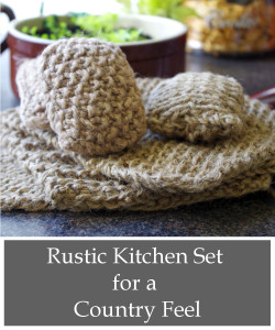 knitted rustic kitchen set tutorial