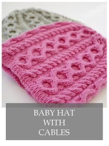 cable knit baby hat free pattern