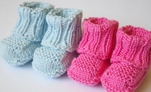 Knitting Pattern Central Baby Mittens : How To Knit Baby Booties Pattern
