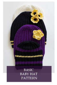 Knit baby hat instructions for beginner