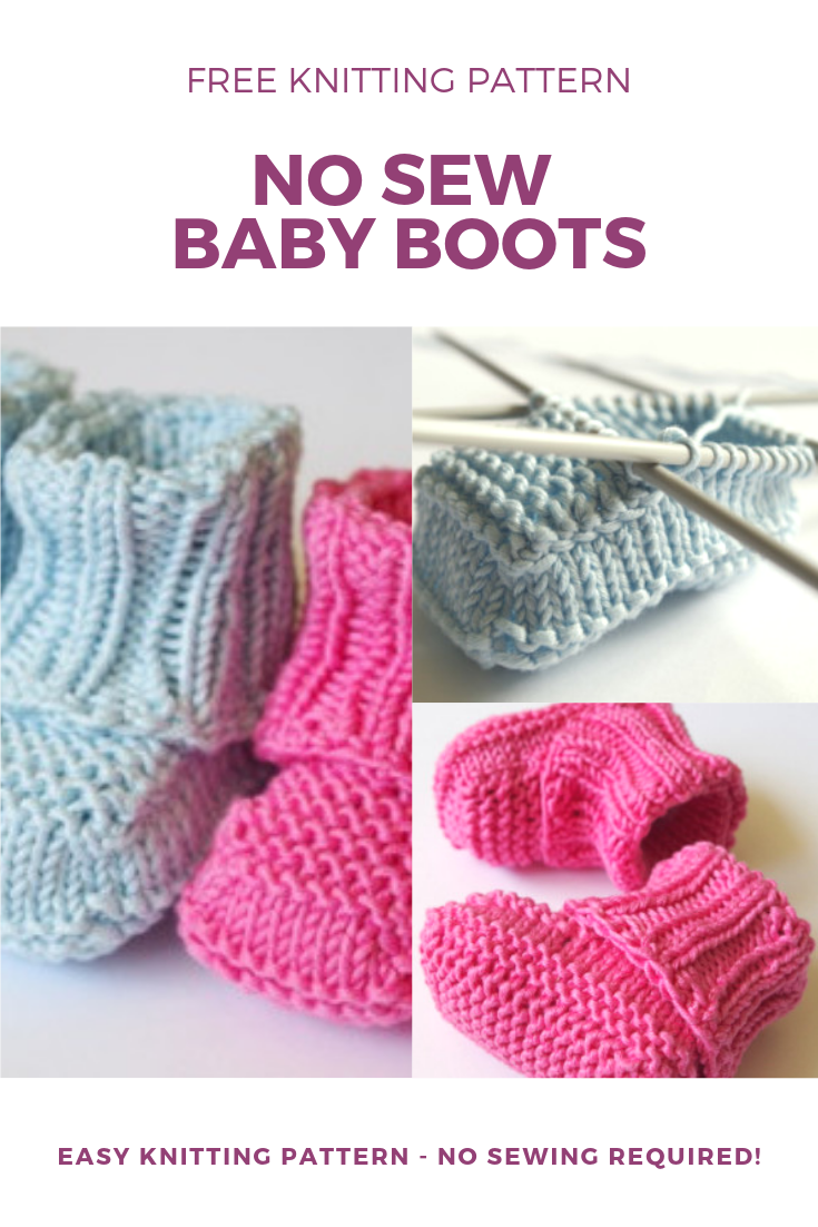 No Sew Knitted Baby Booties Pattern Pattern Duchess