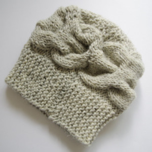 how to knit a newborn baby hat with straight needles