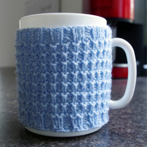 knit cup cozy