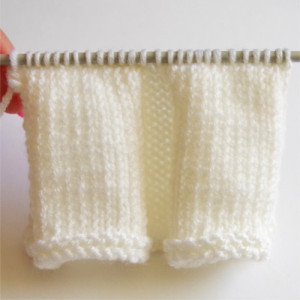 knitted box pleats tutorial