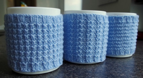 Knit Koozie Pattern : Knitted cup cozy pattern Pattern Duchess