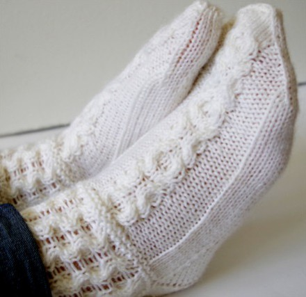 Knitting pattern for Honeycomb Socks