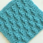 Beautiful and simple textured knitting pattern