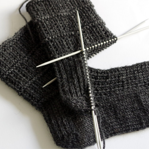 Knitting Pattern For Socks In The Round : How to knit socks   heel flap, turning the heel and gusset decreases (part 3)...