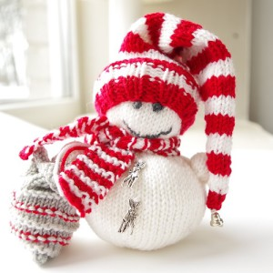 knit snowman ornament