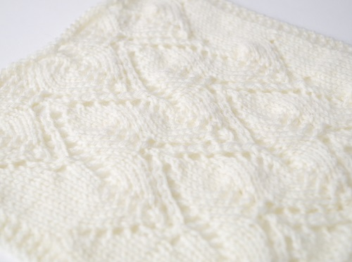 knitting pattern island waves lace