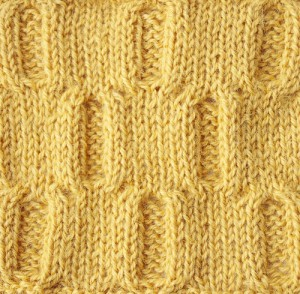 knitting stitch pattern from old pattern sheet