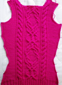 Cable sweater front side