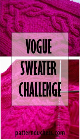 Vogue sweater challenge – sleeves