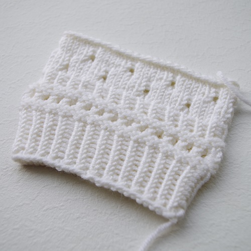 knit stitches from 1961 for mittens