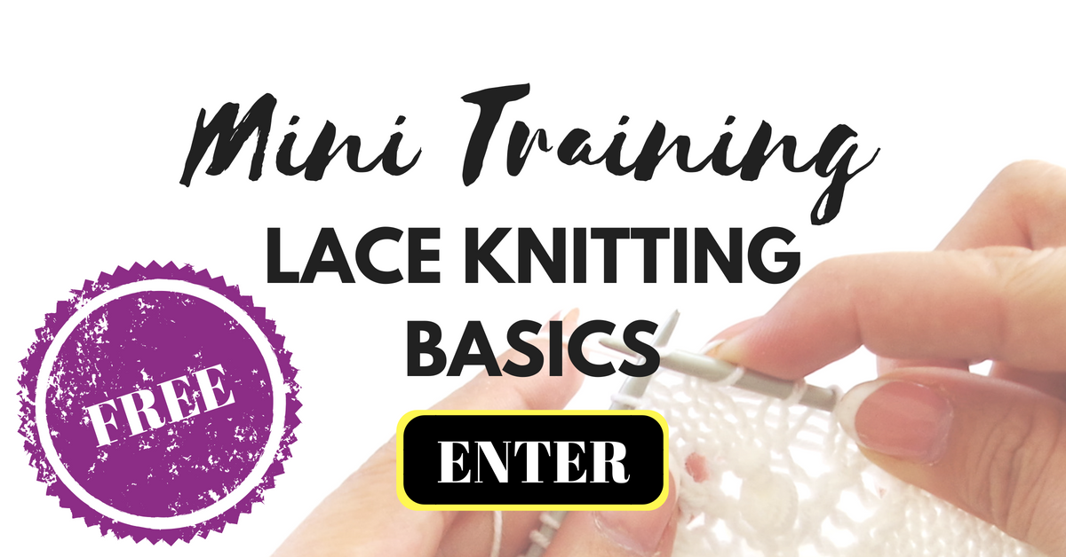Free knitting class - Lace Knitting for beginners Mini training