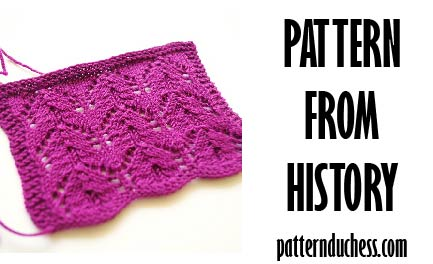 Pattern from history – marvelous lace from 1981