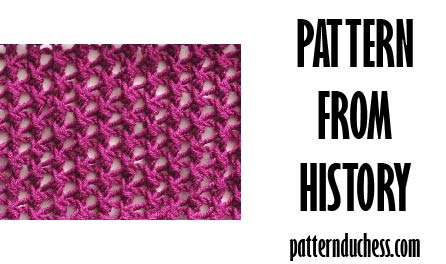 Pattern from history – netting from 1988
