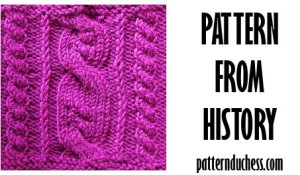 Pattern from history - summer cables from 1990 by Pattern Duchess