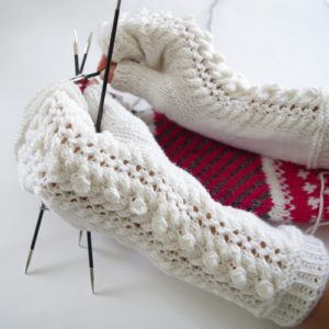 Daily Delight free knitting pattern for Fingerless Gloves