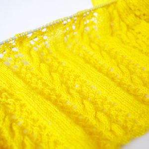 Knitting lace and cables
