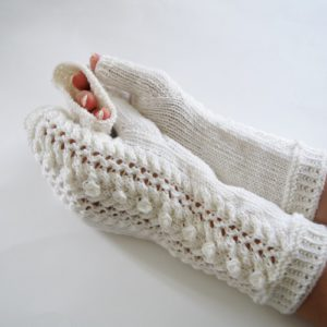 Knitting pattern for Daily Delight Fingerless Mittens by PatternDuchess