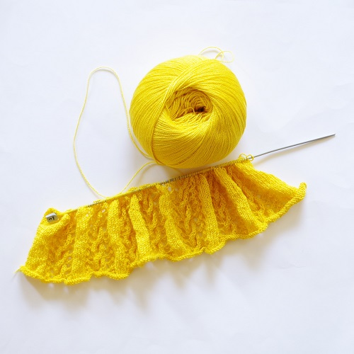 Sunny side up in knitting
