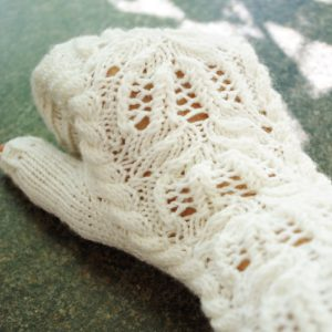 sneak peek to water lily mittens