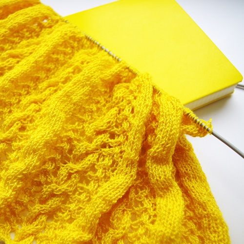 Big Yellow with yellow notebook