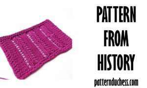 pattern from history Lacy Division knitting pattern cover page