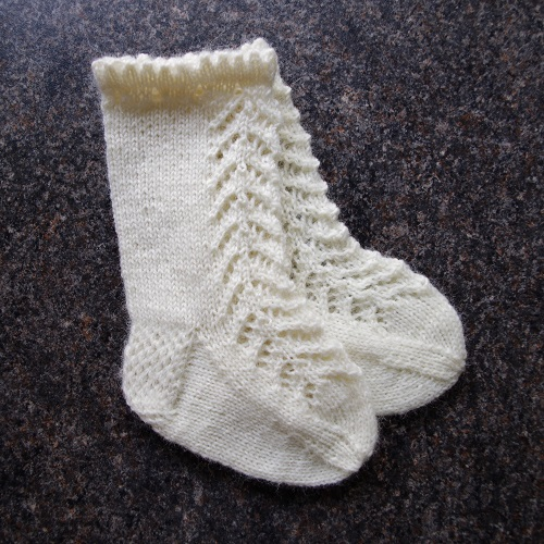 Knitting Pattern For Lacy Knee High Baby Socks Pattern Duchess