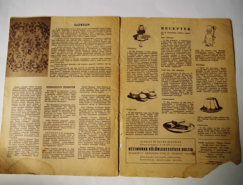 Old Hungarian handcraft magazine from 1957