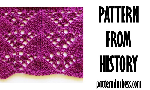 Knitting pattern from history named Triangular year unknown by patternduchess.com