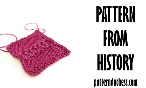 Knitting stitch pattern Braided Lace from 1954 by patternduchess.com