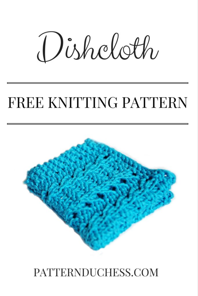 Dishcloth knitting pattern - easy and quick knitting pattern (and free)