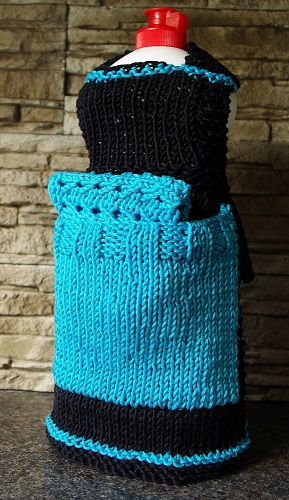 Knit dishcloth dress pattern