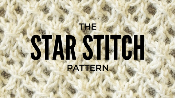 Star Stitch knitting pattern with chart and written instructions