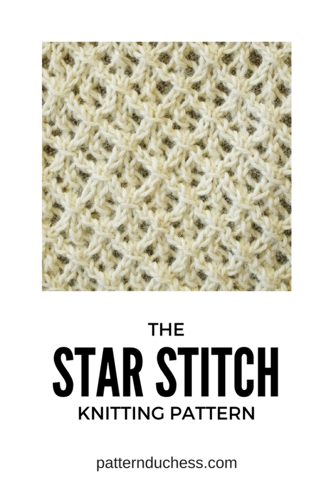 the star stitch knitting tutorial